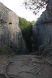 Grandi pareti della roccia, un posto unico fotografia stock libera da diritti