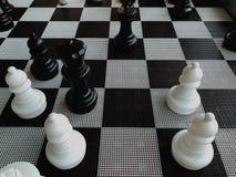 Grandi pezzi degli scacchi fotografia stock libera da diritti