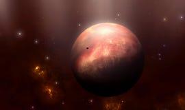 Grandi pianeta e luna del gas Fotografia Stock Libera da Diritti