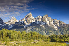 Grandi picchi di Teton Immagini Stock Libere da Diritti