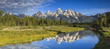 Grandi picchi di Teton Fotografia Stock Libera da Diritti