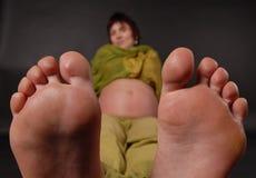 Grandi piedi Fotografia Stock