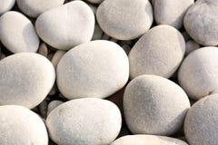 Grandi pietre bianche del ciottolo Immagine Stock