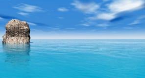 Grandi pietre sulla costa di mare Immagine Stock