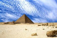 Grandi piramidi egiziane Immagine Stock