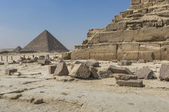 Grandi piramidi egiziane a Giza, Il Cairo Fotografia Stock