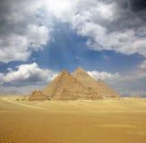 Grandi piramidi nell'Egitto Fotografie Stock Libere da Diritti