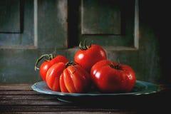 Grandi pomodori rossi RAF Fotografia Stock Libera da Diritti