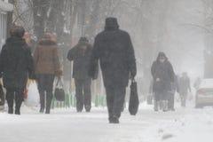 Grandi precipitazioni nevose Immagini Stock