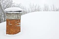 Grandi precipitazioni nevose Fotografia Stock Libera da Diritti