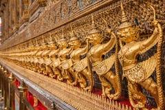 Grandi santuari di Wat Phra Kaew del palazzo di Bangkok, Tailandia Immagine Stock