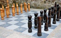 Grandi scacchi Immagini Stock Libere da Diritti