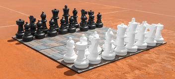 Grandi scacchi all'aperto Fotografie Stock Libere da Diritti
