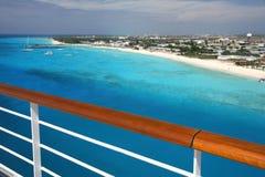 Grandi spiagge dei Turchi dalla ferrovia del balcone delle navi fotografia stock