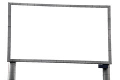 Grandi tabelloni per le affissioni in bianco Immagine Stock