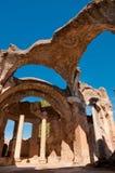 Grandi terme ruiny przy willą Adriana Fotografia Stock