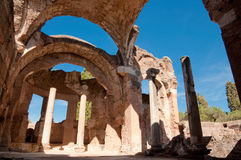 Grandi terme ruiny przy willą Adriana przy Roma Obraz Royalty Free