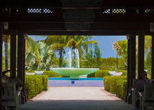 Grandi Turchi, struttura vista attraverso fontana dell'isola Fotografia Stock Libera da Diritti