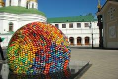 Grandi uova di Pasqua Della sfera Fotografia Stock