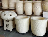 Grandi vasi da fiori Immagine Stock Libera da Diritti