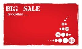 Grandi vendita, autoadesivo ed insegne, fondo di promozione Fotografia Stock