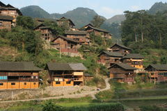 Grandi villaggi di stile originale Immagini Stock Libere da Diritti