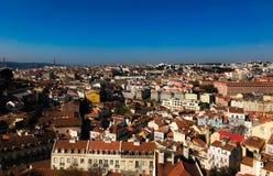 Grandi viste dalla cima di Lisbona Immagine Stock Libera da Diritti