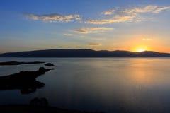 Grandi viste di tramonto e del lago Immagine Stock Libera da Diritti