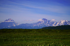 Grandi vulcanos di Kamchatka Fotografia Stock Libera da Diritti
