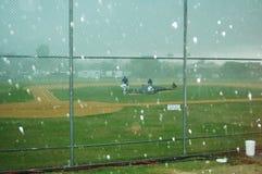 Grandinando al baseball Fotografia Stock