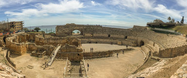 The grandios amphitheater, a construction of the past centuries Royalty Free Stock Image