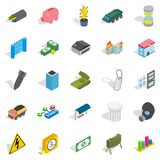 Grandiose business icons set, isometric style. Grandiose business icons set. Isometric set of 25 grandiose business vector icons for web isolated on white Stock Photos