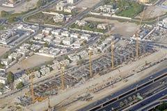 Grandiose construction in Dubai, the United Arab Emirates.  Royalty Free Stock Photo