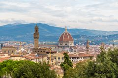 The grandiose dome of Florence stock photos