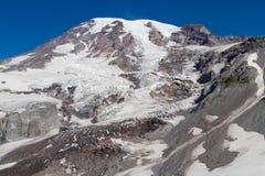 Grandiose Glacier. Landscape view of Mountain Rainier in the summer time Stock Image