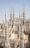Grandiose Milan cathedral (Duomo di Milano), Italy. Architectural theme Stock Image