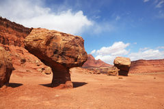 Grandiose panorama  stone desert Stock Images