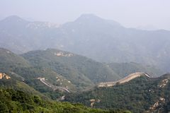 Grandiose protective structure of past centuries. The Great Wall, a site Badaling Royalty Free Stock Photos