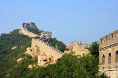 Grandiose protective structure of past centuries -. The Great Wall, a site Badaling Stock Image