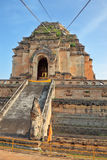 Grandiose ritual construction in Thailand. The step pyramid in which is the huge gold Buddha. Grandiose ritual construction in Thailand Stock Photography