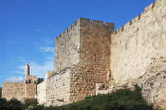Grandiose walls of Jerusalem Royalty Free Stock Image