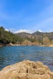A grandiosidade do grande lago antes de mim Imagem de Stock