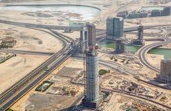 Grandioze bouw in Duba Stock Afbeeldingen