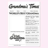 Grandma's cronometra - o presente do dia de mãe, memórias, presente rápido, fácil, maravilhoso, tocante ilustração stock