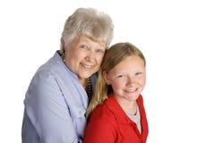 grandma εγγονών Στοκ Φωτογραφία