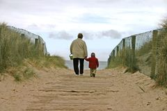 grandma παραλιών Στοκ φωτογραφίες με δικαίωμα ελεύθερης χρήσης