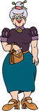 Grandma. Cartoon artwork line-art stock illustration