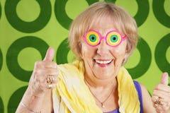 Δροσερό grandma Στοκ Εικόνες