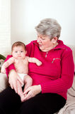 Grandma with baby Royalty Free Stock Photo