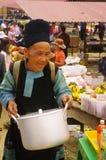 Grandma Black Hmong ethnic group Stock Image